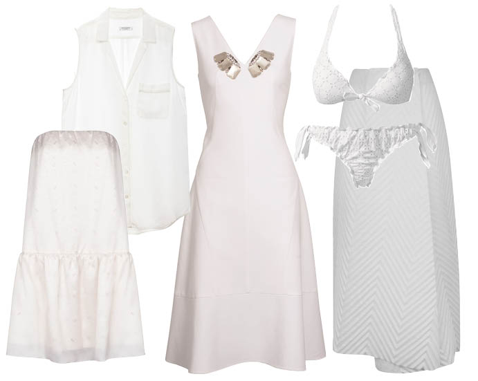 Платье LUBLU Kira Plastinina; рубашка Equipment; платье SCHUMACHER; купальник Calzedonia; юбка J.W. ANDERSON