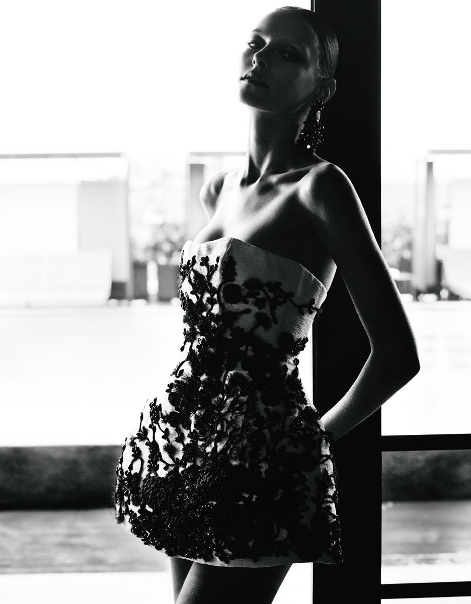 Платье из хлопка, расшитое люрексом, серьги, все — Dsquared²