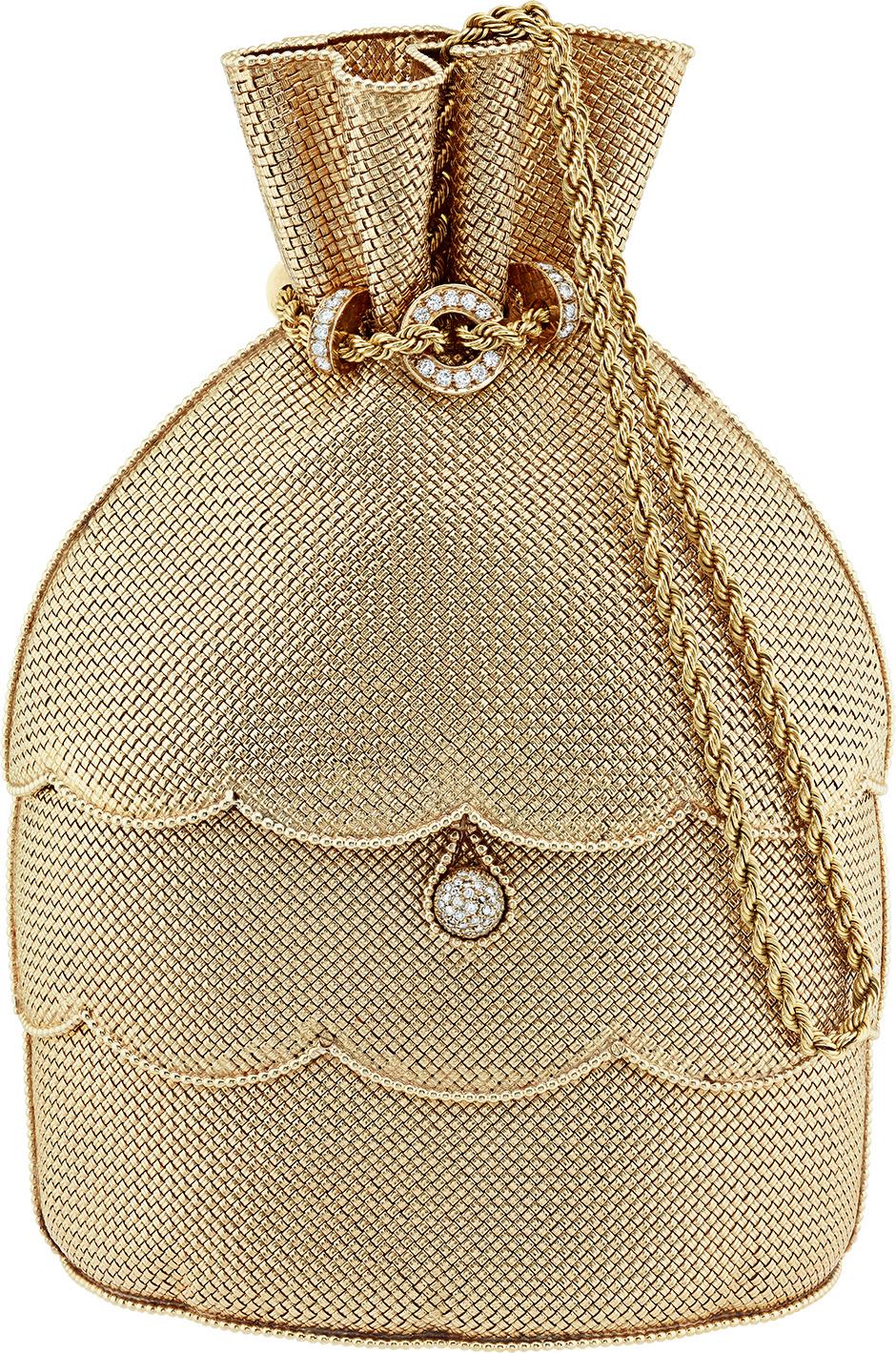 Вечерняя сумочка, cплетенная из золота, Van Cleef & Arpels, 1971 год.