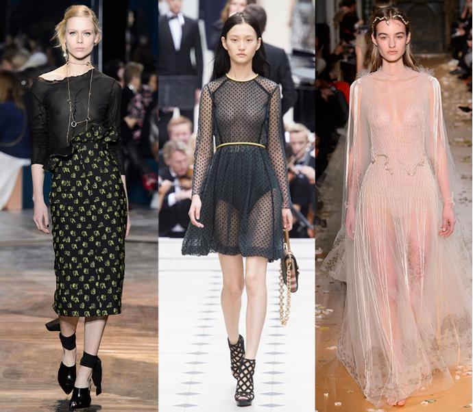 Christian Dior, Burberry, Valentino
