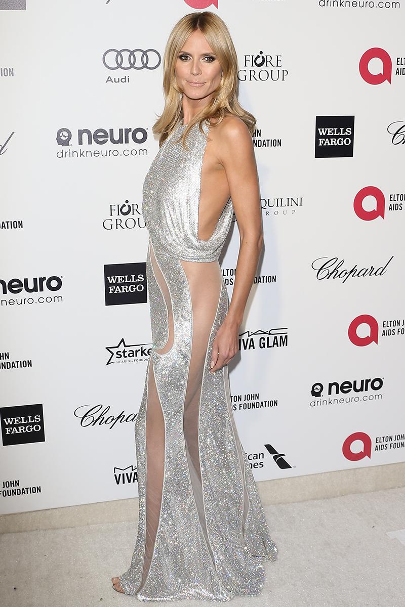 Модель Хайди Клум Платья наголо: самые сексуальные наряды звезд