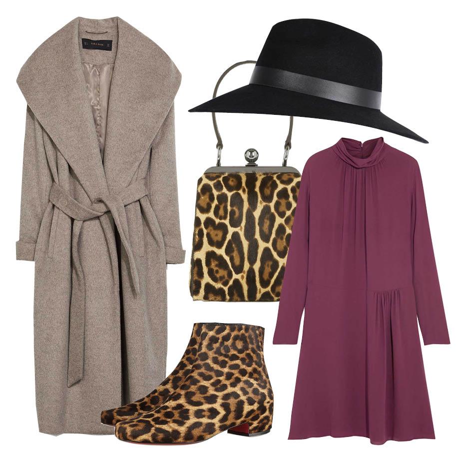 Выбор ELLE: платье Nina Ricci, шляпа River Island, полусапожки Christian Louboutin, сумка Dolce&Gabbana