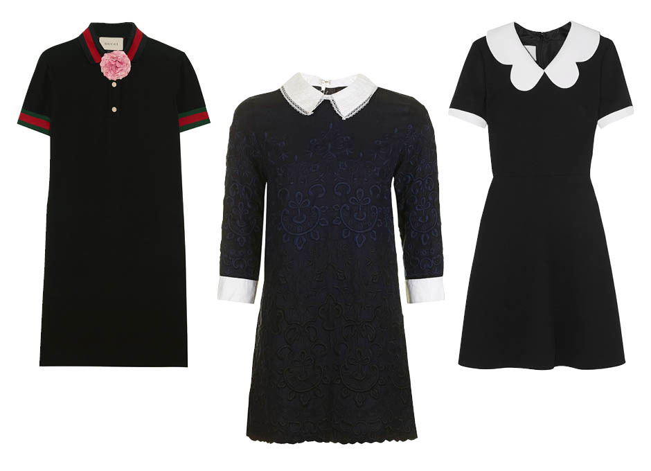 Платье в школьном стиле Gucci, TopShop, Valentino