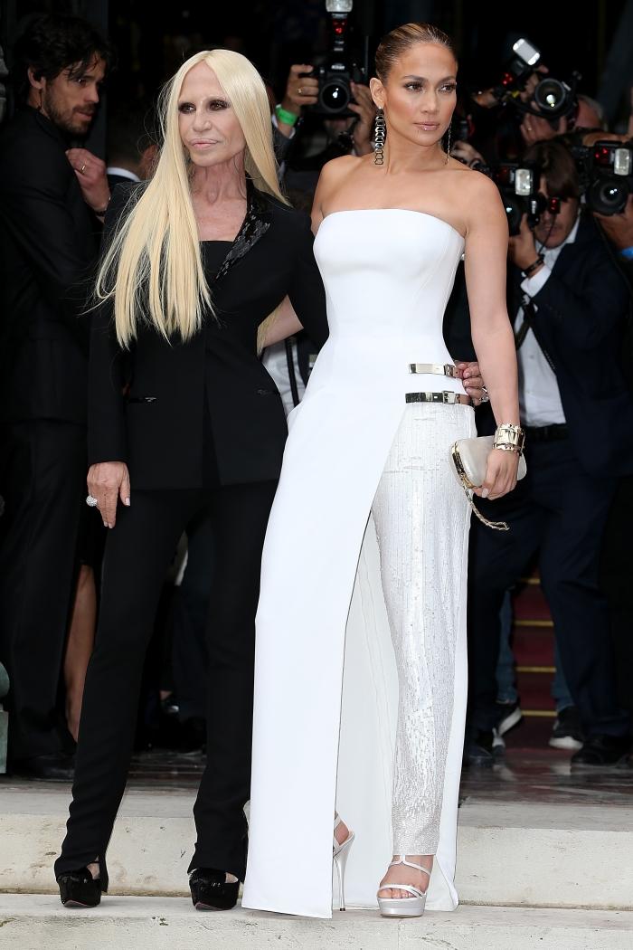 Дженнифер Лопес на показе Versace