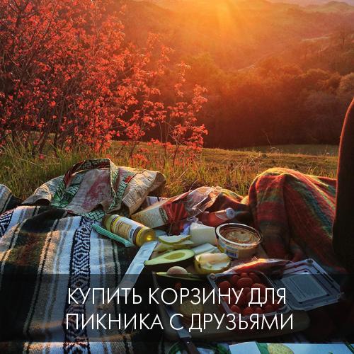 7. Купить корзину для пикника с друзьями