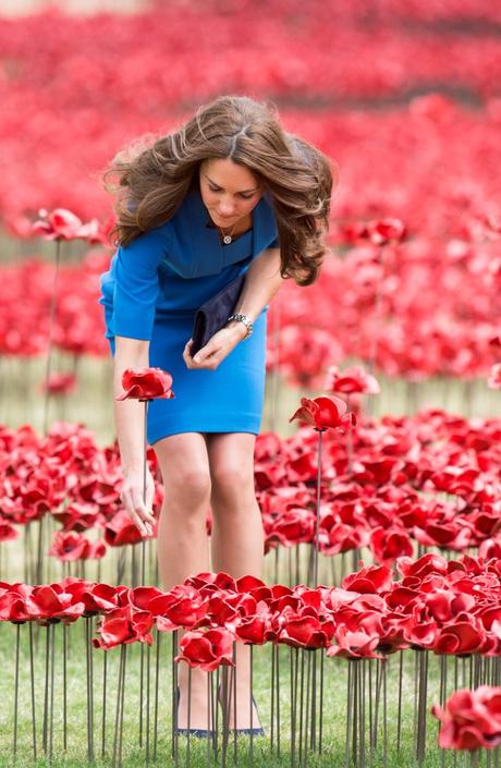 Кейт Миддлтон, Принц Уильям и Принц Гарри на мемориале в память о жертвах Первой мировой войны