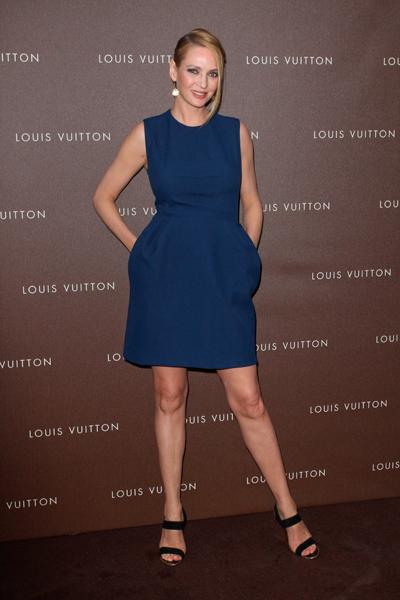 Ума Турман в платье Louis Vuitton