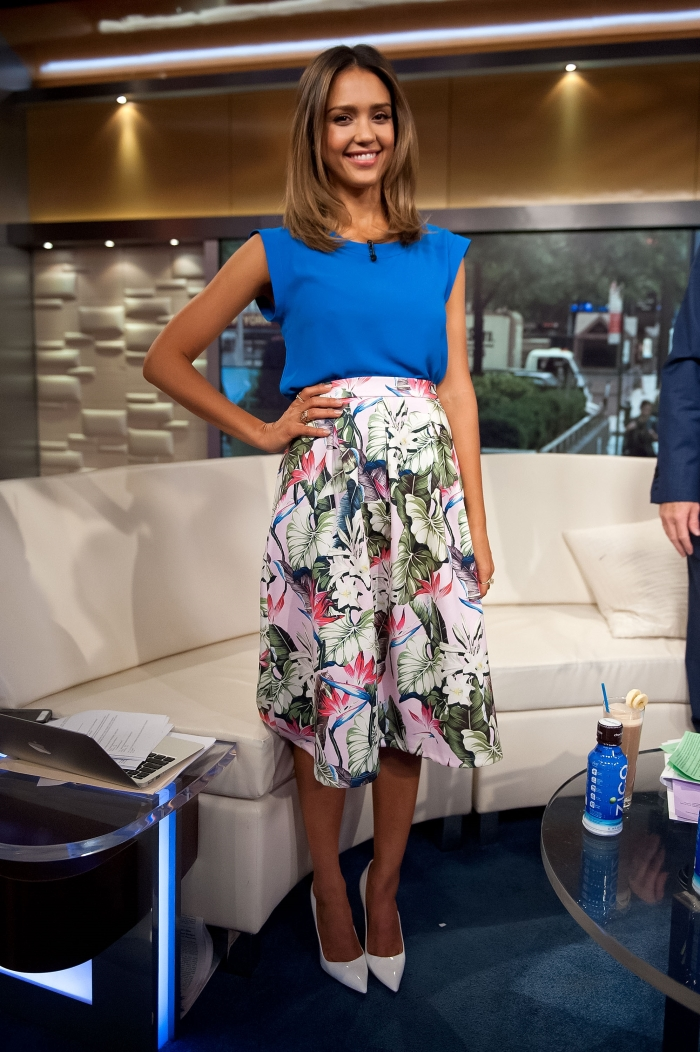 Стиль Джессики Альбы: юбка Topshop