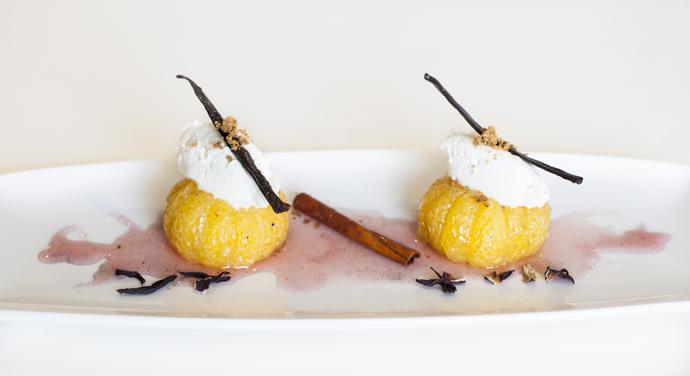 Новогодний мандариновый десерт
