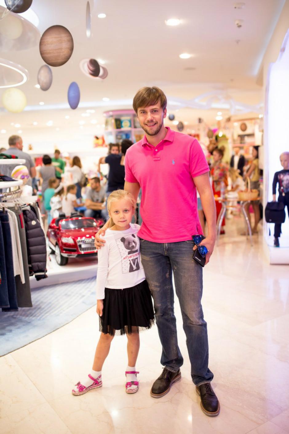 Иван Жидков с дочерью Машей