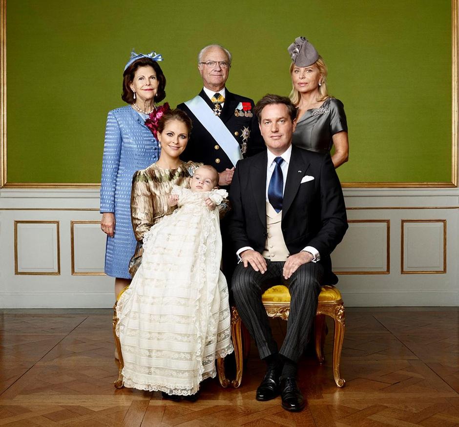 Портрет шведской королевской семьи