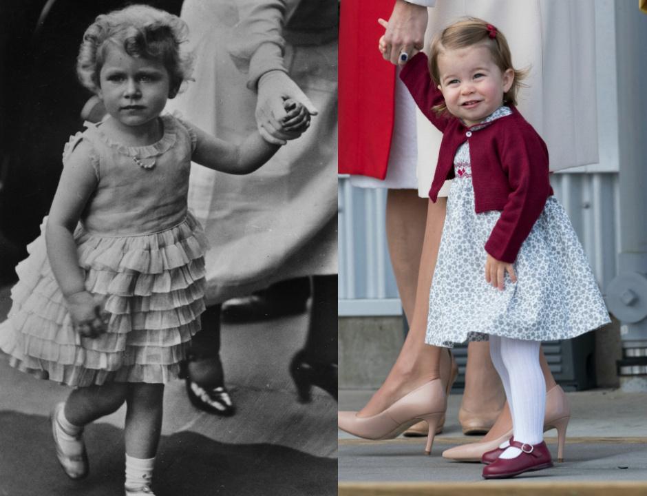 Королева Елизавета II в детстве / Принцесса Шарлотта