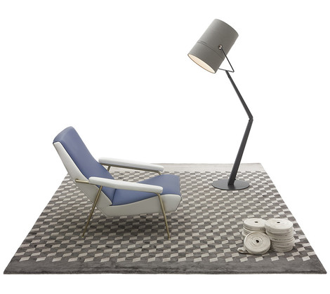 Ковер Contemporary, CC-Tapis, www.cc-tapis.com (на ковре — кресло по эскизу Джо Понти, Molteni & C, и торшер Fork, Diesel + Foscarini).