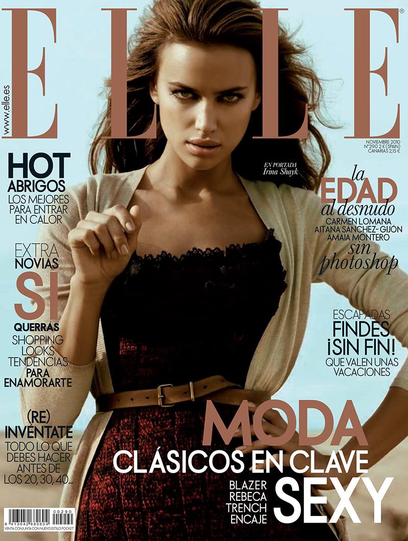Ирина Шейк на обложке испанского ELLE, ноябрь 2010