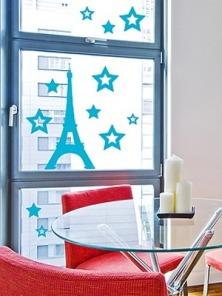 На фото: наклейки на стены и окна Paristic