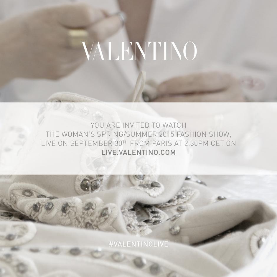 Прямая трансляция показа Valentino на Неделе моды в Париже