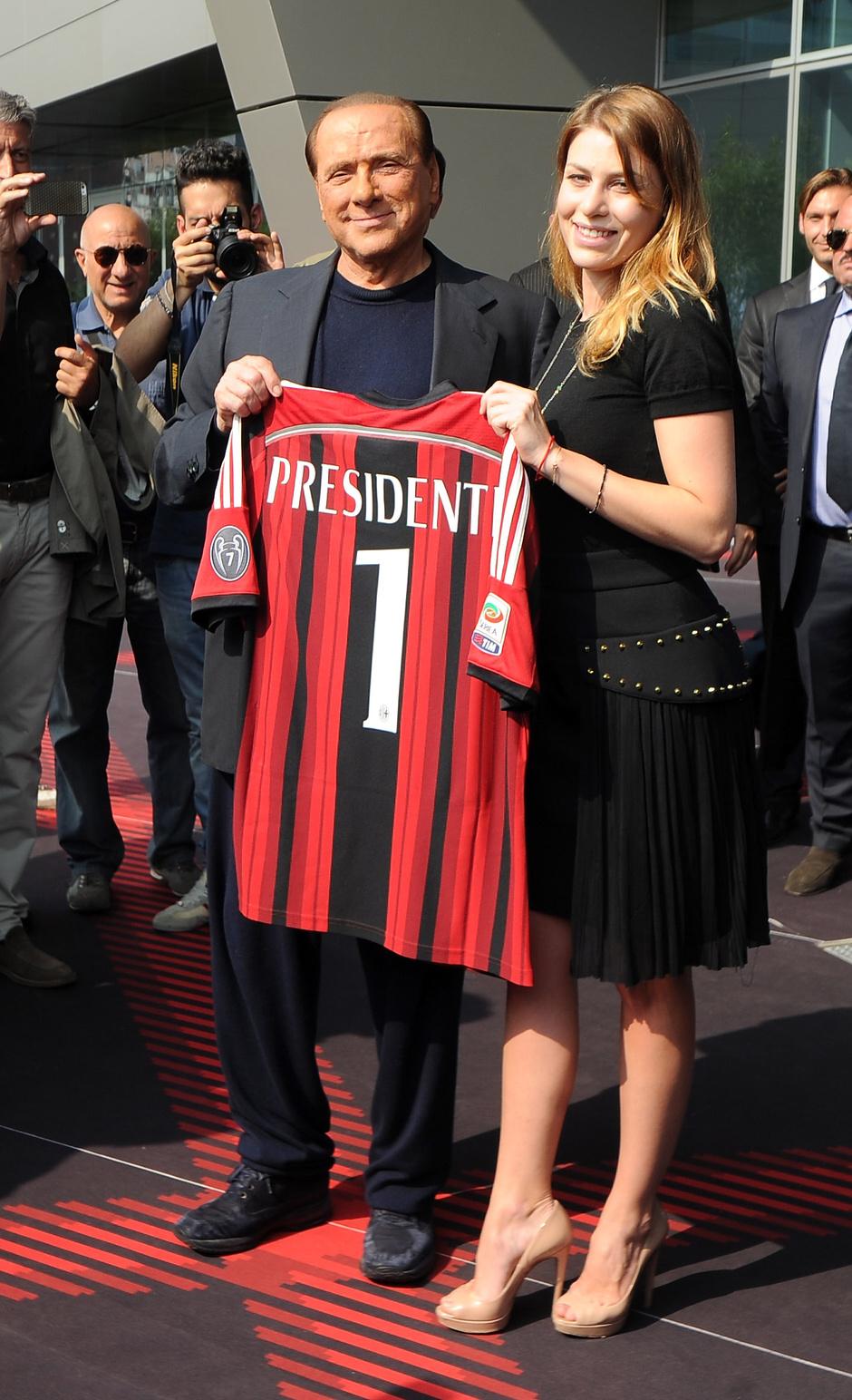Барбара с отцом Сильвио Берлускони