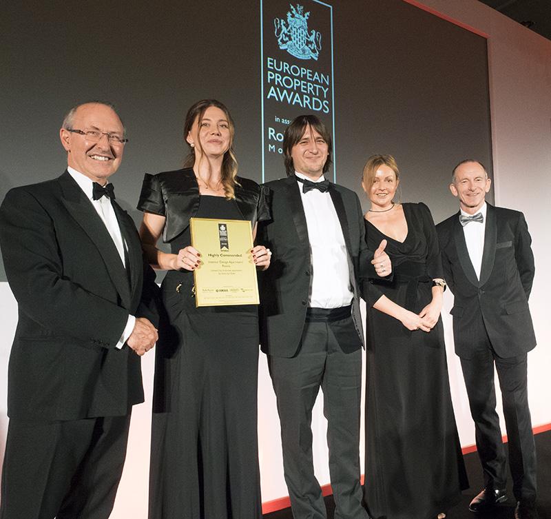 Проекты дизайн-студии «INTRO by Chak» получили премию European Property Awards 2014