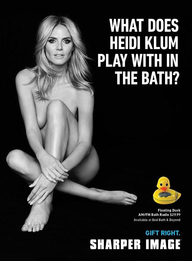 Рекламная кампания Sharper Image с Хайди Клум
