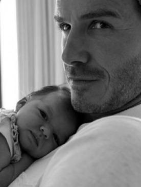 Дэвид Бекхэм с дочкой Харпер Севен