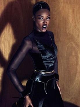 Наоми Кэмпбелл в рекламе коллекции Givenchy осень 2011