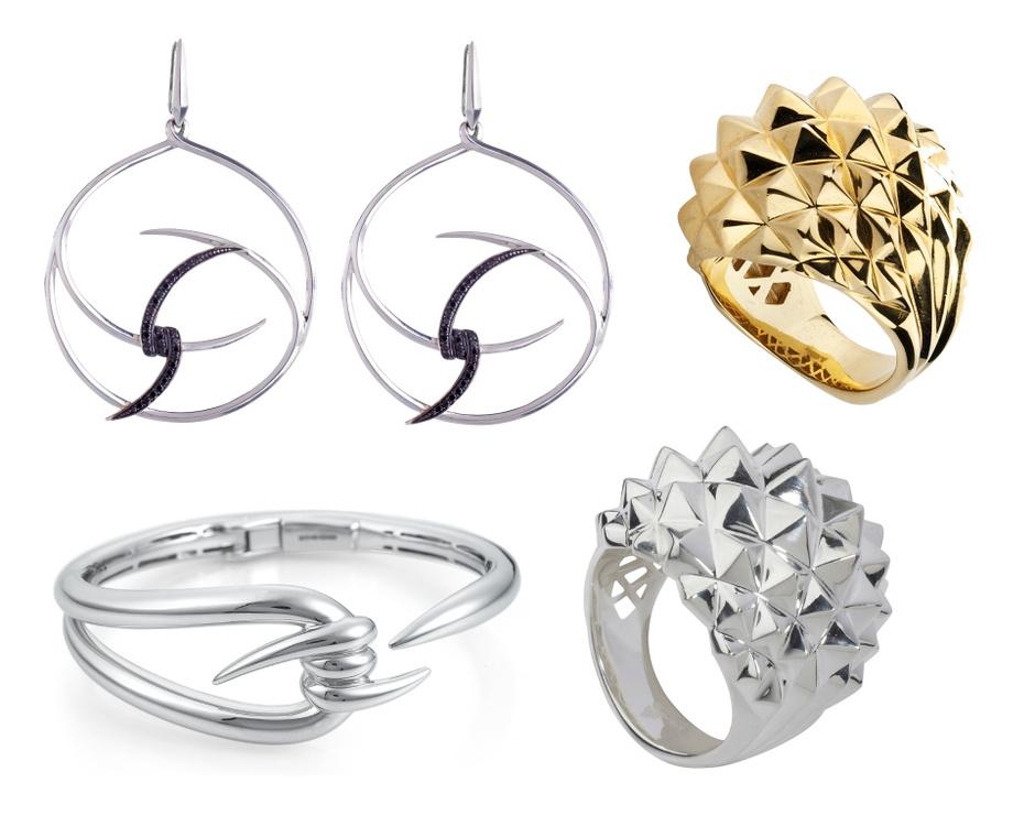 Браслет, кольца и серьги, все – Stephen Webster