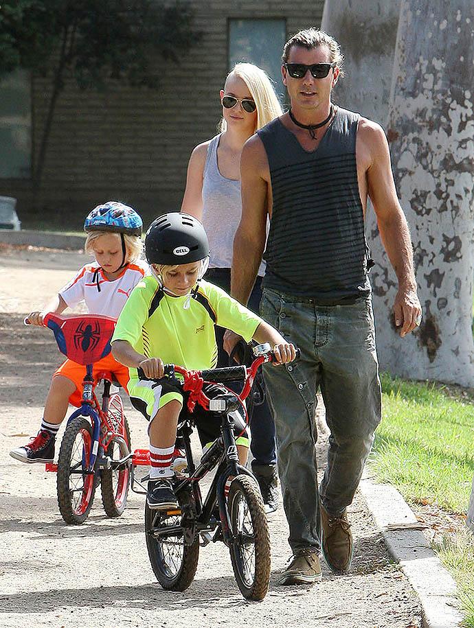 Гвен Стефани с детьми и бывшим мужем