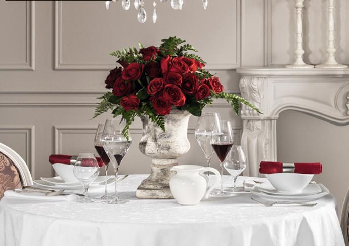 Togas, день святого Валентина, праздничная сервировка