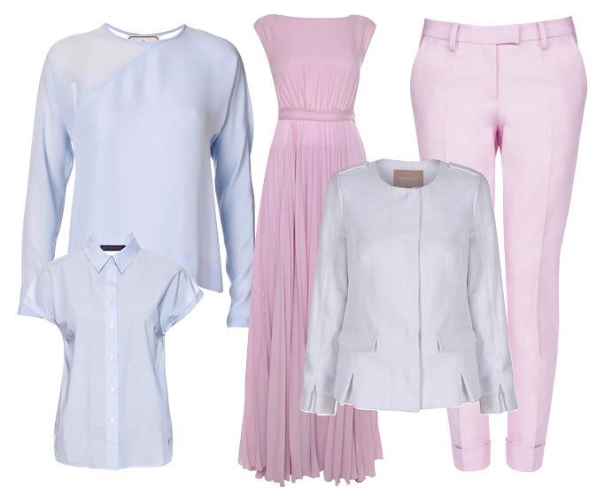 Блуза By Malene Birger; платье Kira Plastinina; брюки LUBLU Kira Plastinina; рубашка Tru Trussardi; жакет Banana Pepublic