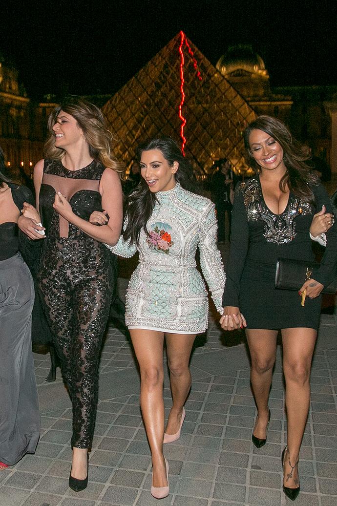 Ким Кардашьян с подругами