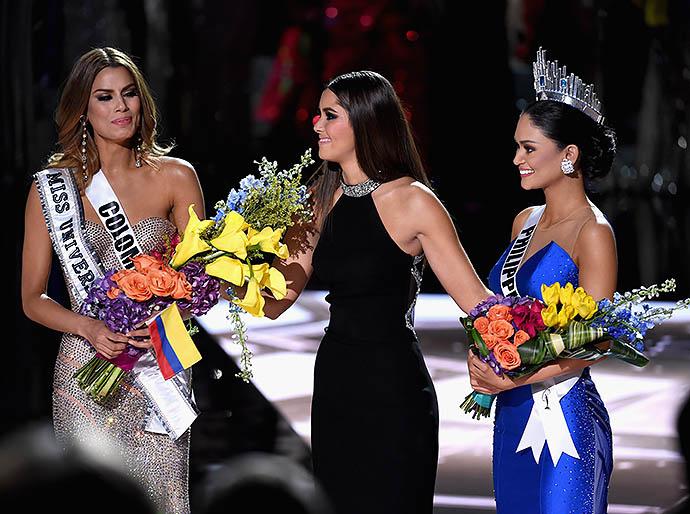 Ариадна Гутьеррес, Мисс Вселенная-2014 Паулина Вега и Пиа Алонсо Вуртцбах