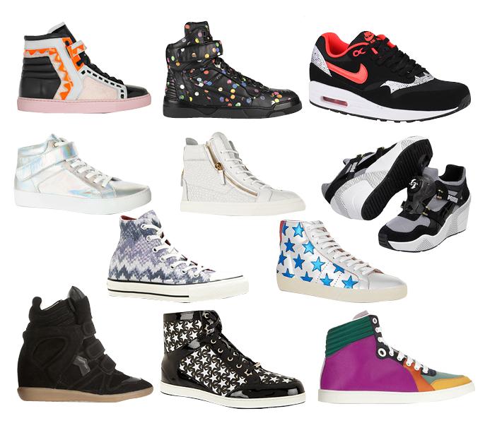 Выбор ELLE: Sophia Webster, Givenchy, Nike, Vagabond Sport, Giuseppe Zanotti, Puma, Converse, Saint Laurent, Isabel Marant, Jimmy Choo, Gucci