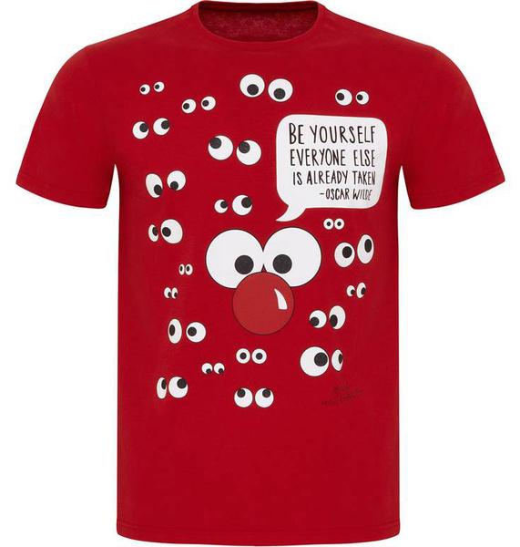 Известные дизайнеры создали футболки ко Дню красного носа | галерея [1] фото [2]