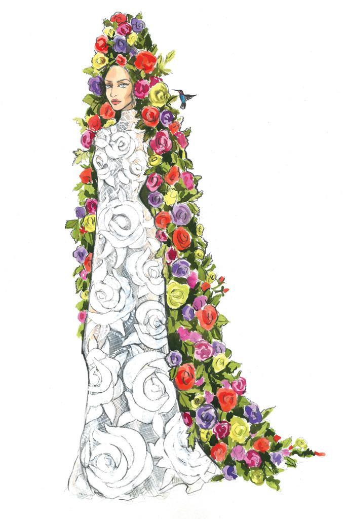 Свадебное платье Леди Гага от Mara Hoffman