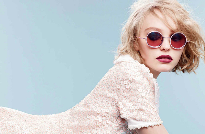 Лили-Роуз Депп в рекламной кампании Chanel Eyewear