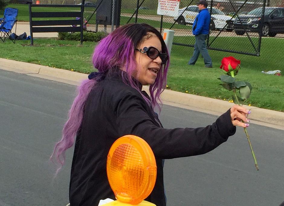 Тика Нельсон на похоронах Принса
