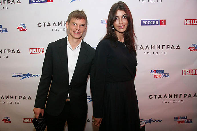 Андрей Аршавин и Алиса Казьмина