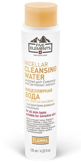 Мицеллярная вода с экстрактами ромашки и василька Flamma Meccellar Cleansing Water от Five Elements