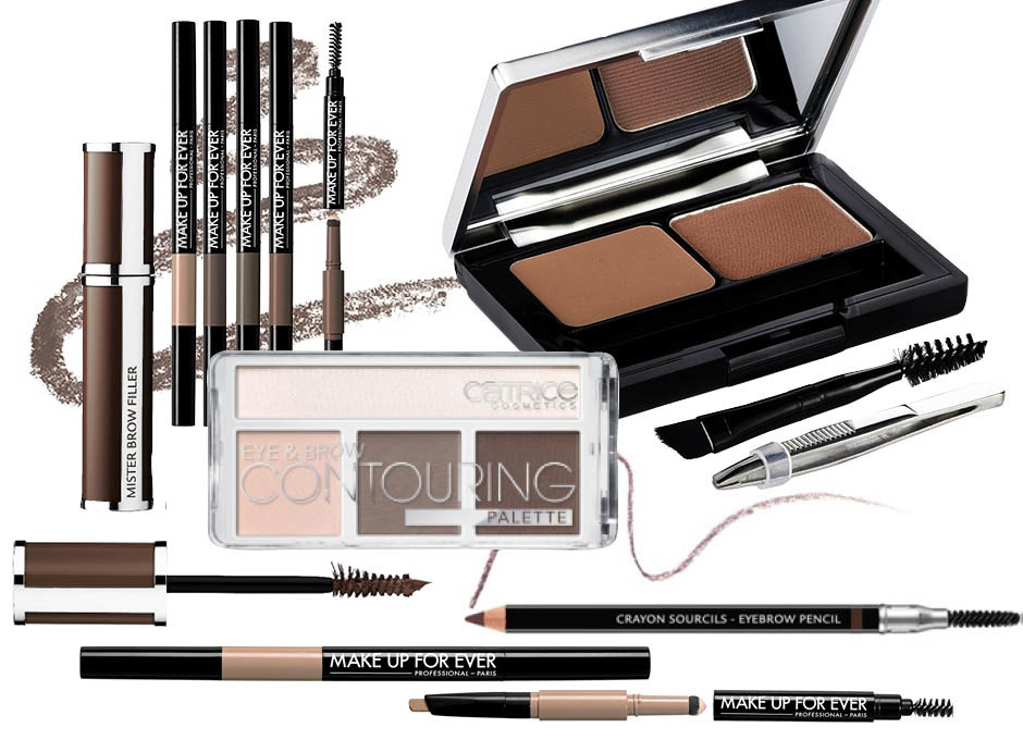 1. Givenchy Mister Brow Filler; 2. Make Up For Ever Pro Sculpting Brow; 3. Catrice Eye & Brow Contouring; 4. L'Oreal Paris Brow Artist; 5. Givenchy Eyebrow Pencil