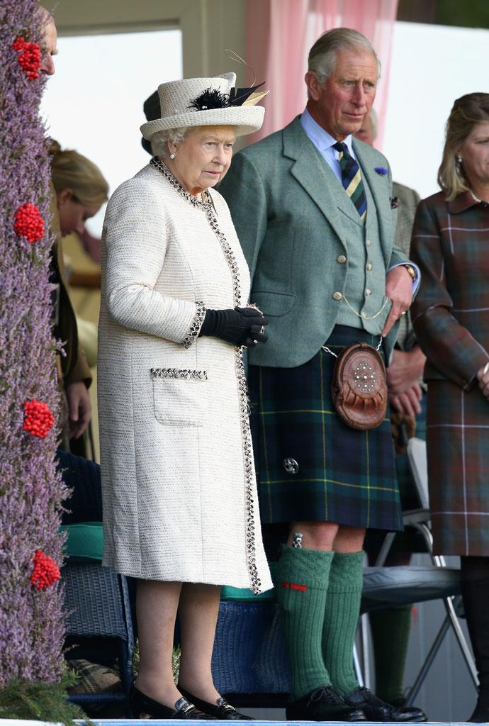 Елизавета Вторая и принц Чарльз