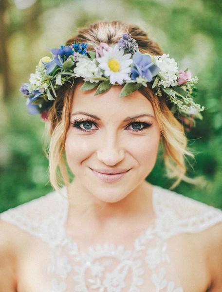 Как украсить цветами свадебную прическу? | галерея [1] фото [2]