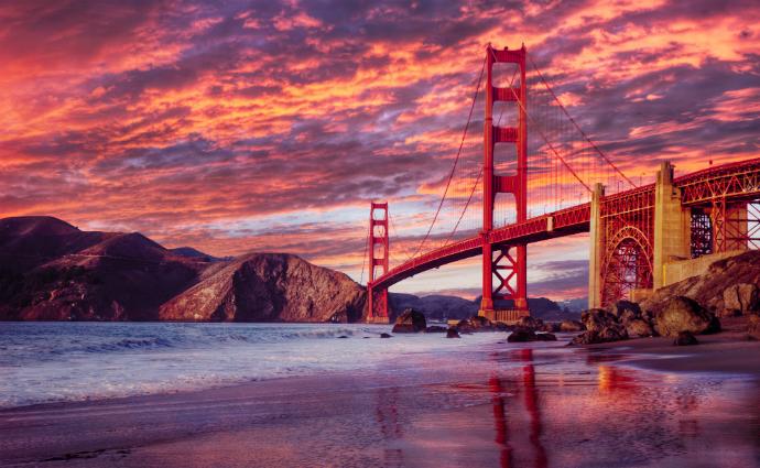Золотые Ворота, Сан-Франциско красивые мосты мира фото