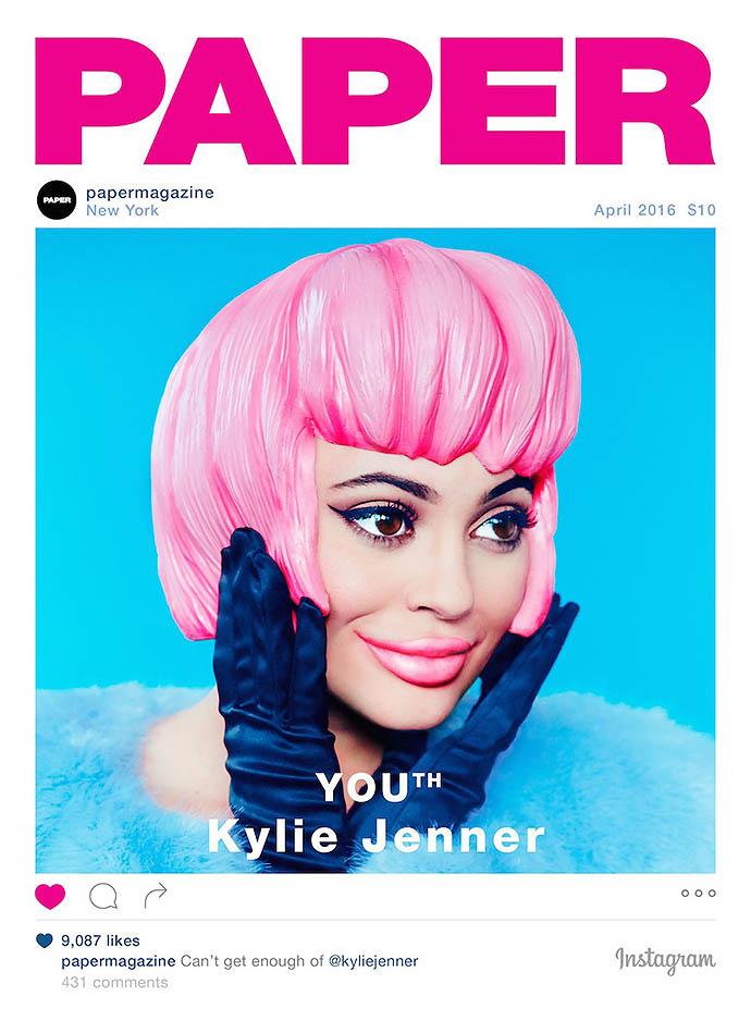 Обложка журнала с Кайли Дженнер, сделанная под пост в Инстаграме