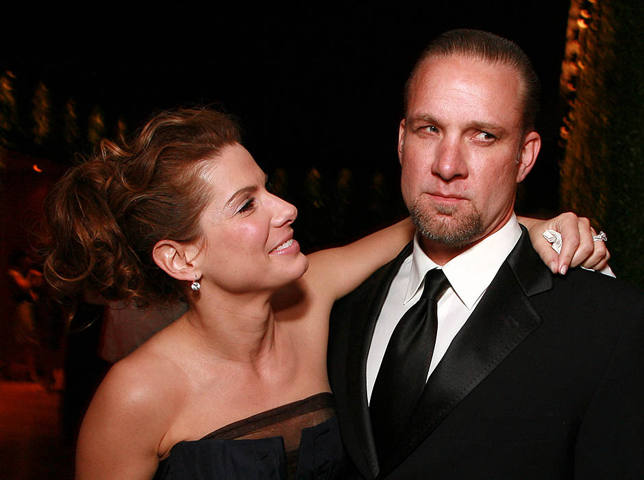 Сандра с бывшим мужем Джесси Джеймсом