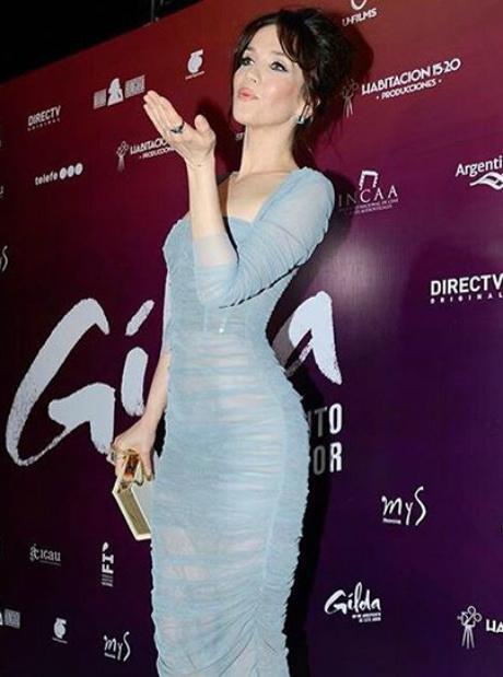 Наталья Орейро на премьере в Аргентине