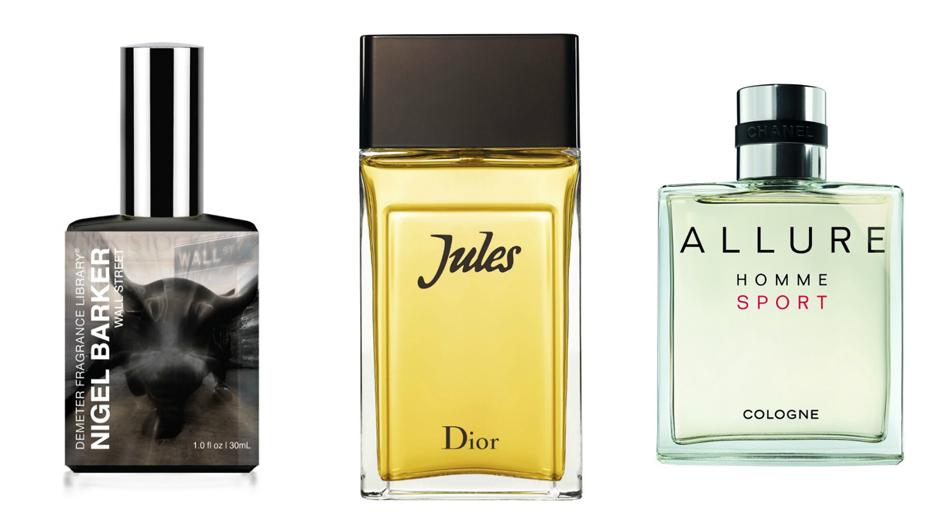 1. Demeter Nigel Barker Wall Street; 2. Dior Jules; 3. Chanel Allure Sport
