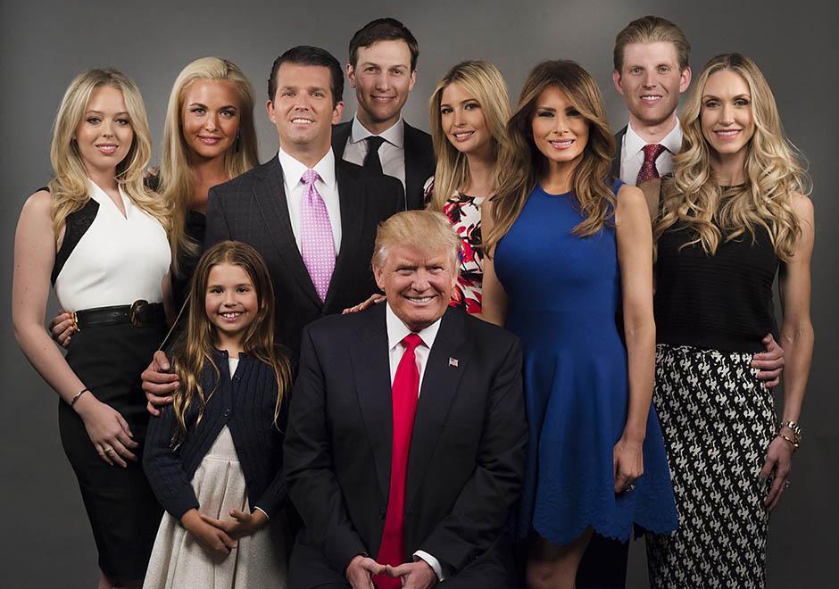 Дональд Трамп з родиною