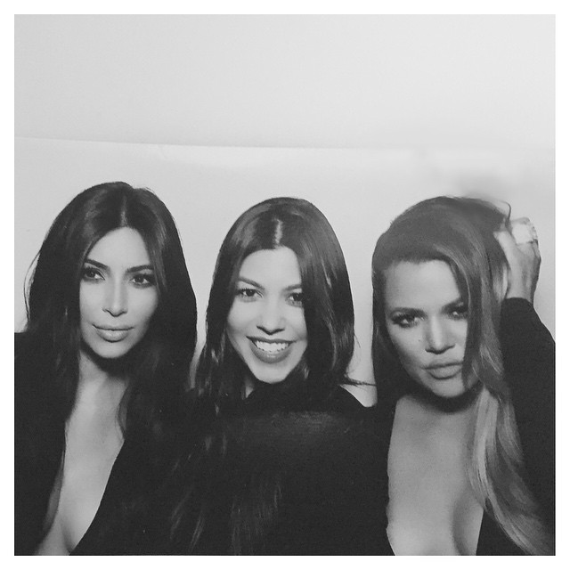Ким, Кортни и Хлоя Кардашьян