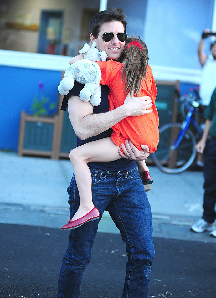 Том Круз с дочерью