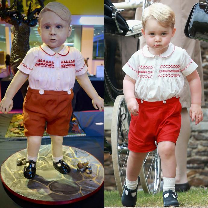 Торт в виде принца Георга фото